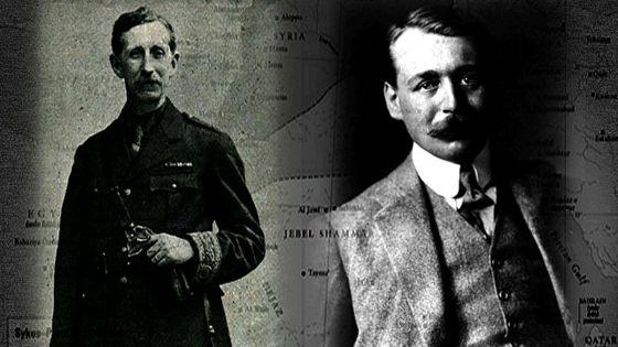 مارك سایكسى فهرهنسی و جۆرج پیكۆی بهریتانی