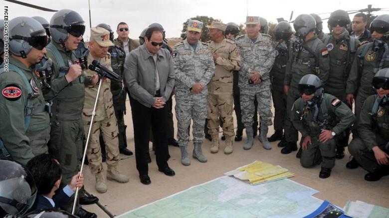 سیسی سوپای میسرى بۆ چوونه ناو لیبیا ئاماده كردووه